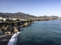 Plaża w Nerja, Andalusia, Hiszpania fotografia stock