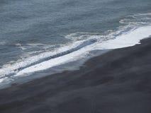 Plaża w Południowym Iceland fotografia stock