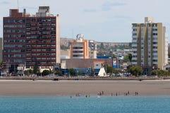Plaża w Puerto Madryn Patagonia Argentyna fotografia stock