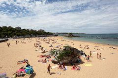 Plaża w Santander, Cantabria, Hiszpania Zdjęcia Stock