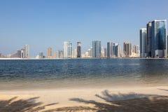 Plaża w Sharjah mieście Zdjęcia Royalty Free