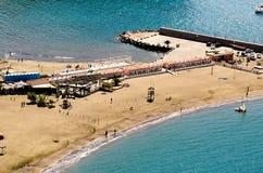 Plaża w Sorrento wybrzeżu Zdjęcia Stock