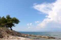 Plaża w Sutivan, Chorwacja fotografia stock