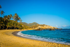 Plaża w Tayrona parku narodowym, Kolumbia fotografia stock