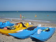 Plaża w Vama Veche na późnego sierpnia popołudniu Fotografia Royalty Free