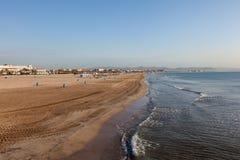 Plaża w Walencja, Hiszpania Obraz Royalty Free