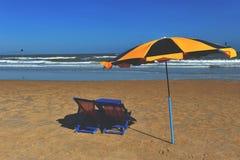 Plaża w Wietnam z słońca lounger Obraz Royalty Free