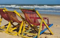 Plaża w Wietnam z słońca lounger Zdjęcia Royalty Free