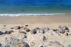 Plaża z skałami Obrazy Stock