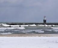 plaża zakrywający śnieg Fotografia Royalty Free