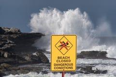 plaża zamknięta Zdjęcia Royalty Free