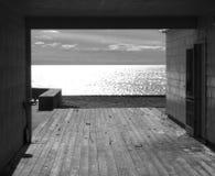Plaża zamykająca dla sezonu Fotografia Royalty Free