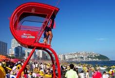 plaża zatłoczony Korea Zdjęcia Royalty Free