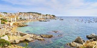 Plaże Calella de Palafrugell, Girona, Costa Brava, Catalonia, Hiszpania obraz royalty free