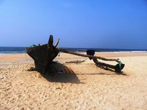 Plaże Goa i wybrzeże fotografia royalty free