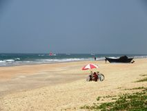 Plaże Goa i wybrzeże fotografia stock