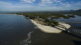 Plaże i paradisiacal miejsca, cudowne plaże dookoła świata, Restinga Marambaia plaża, Rio De Janeiro, Brazylia obrazy stock