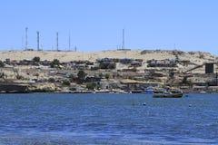 Plaże i schronienie blisko Bahia Inglesia, kaldera, Chile zdjęcia stock