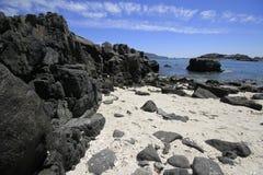 Plaże i schronienie blisko Bahia Inglesia, kaldera, Chile zdjęcia royalty free