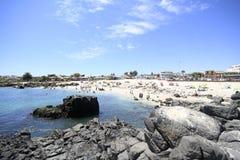 Plaże i schronienie blisko Bahia Inglesia, kaldera, Chile zdjęcie royalty free