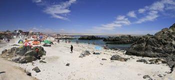 Plaże i schronienie blisko Bahia Inglesia, kaldera, Chile fotografia stock