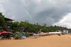 Plaże i wybrzeże przy Koggala w Sri Lanka zdjęcie stock