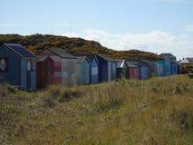 plaże kolorowym chaty zdjęcia stock