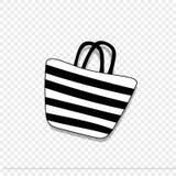 Plaże paskować kobiet torby ikona odizolowywająca na przejrzystym tle royalty ilustracja