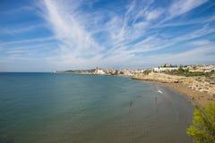 Plaże Sitges, Catalonia, Hiszpania obraz royalty free