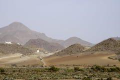 Plaże St josè, cabo de Gata, Andalusia, Hiszpania, Europe, widok fotografia stock