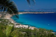 plaże suną Formentera Zdjęcia Stock