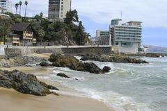 Plaże Valparaiso, Vina Del Mącący, Chile obrazy stock
