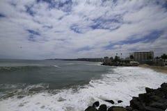 Plaże Valparaiso, Vina Del Mącący, Chile fotografia royalty free