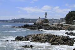 Plaże Valparaiso, Vina Del Mącący, Chile obrazy royalty free