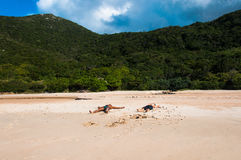 Plaże w florianopolis wyspie w Południowym Brazylia, zdjęcie royalty free