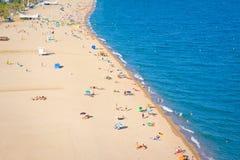 Plaże, wybrzeże w Calella catalonia Hiszpania fotografia stock