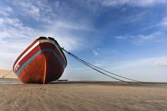 plażowa łódź Zdjęcia Stock