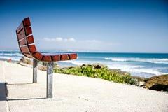 plażowa ławka Obrazy Royalty Free