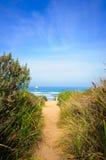 plażowa ścieżka fotografia stock