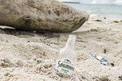 Plażowa butelka zdjęcia royalty free