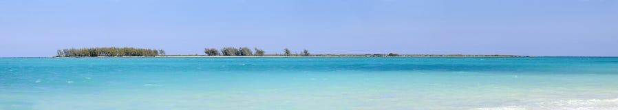 plażowa cayo coco Cuba panorama fotografia stock