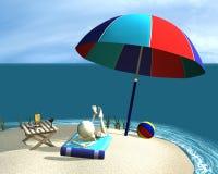 plażowa chłopiec ilustracja wektor