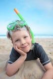 Plażowa chłopiec. Obraz Royalty Free
