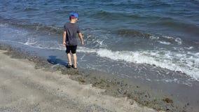 Plażowa chłopiec Obrazy Royalty Free