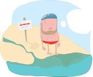 Plażowa chłopiec ilustracji