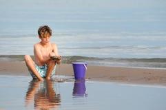 Plażowa chłopiec Fotografia Stock