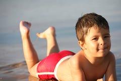 plażowa chłopiec zdjęcie stock