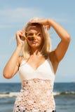 plażowa dziewczyna dosyć Obrazy Royalty Free