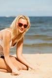 plażowa dziewczyna dosyć Obrazy Stock