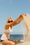 plażowa dziewczyna dosyć Fotografia Royalty Free